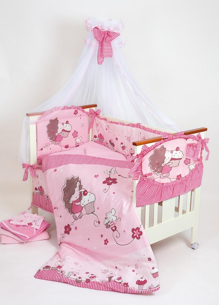 Фото - Комплект в кроватку для новорождённых Ёжик Топа-Топ, 8 предметов всё для новорождённых