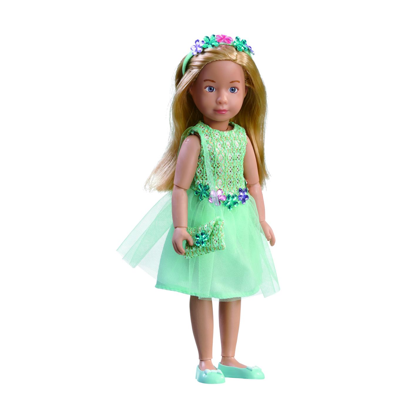 0126853 Кукла Вера Kruselings  нарядном платье для вечеринки