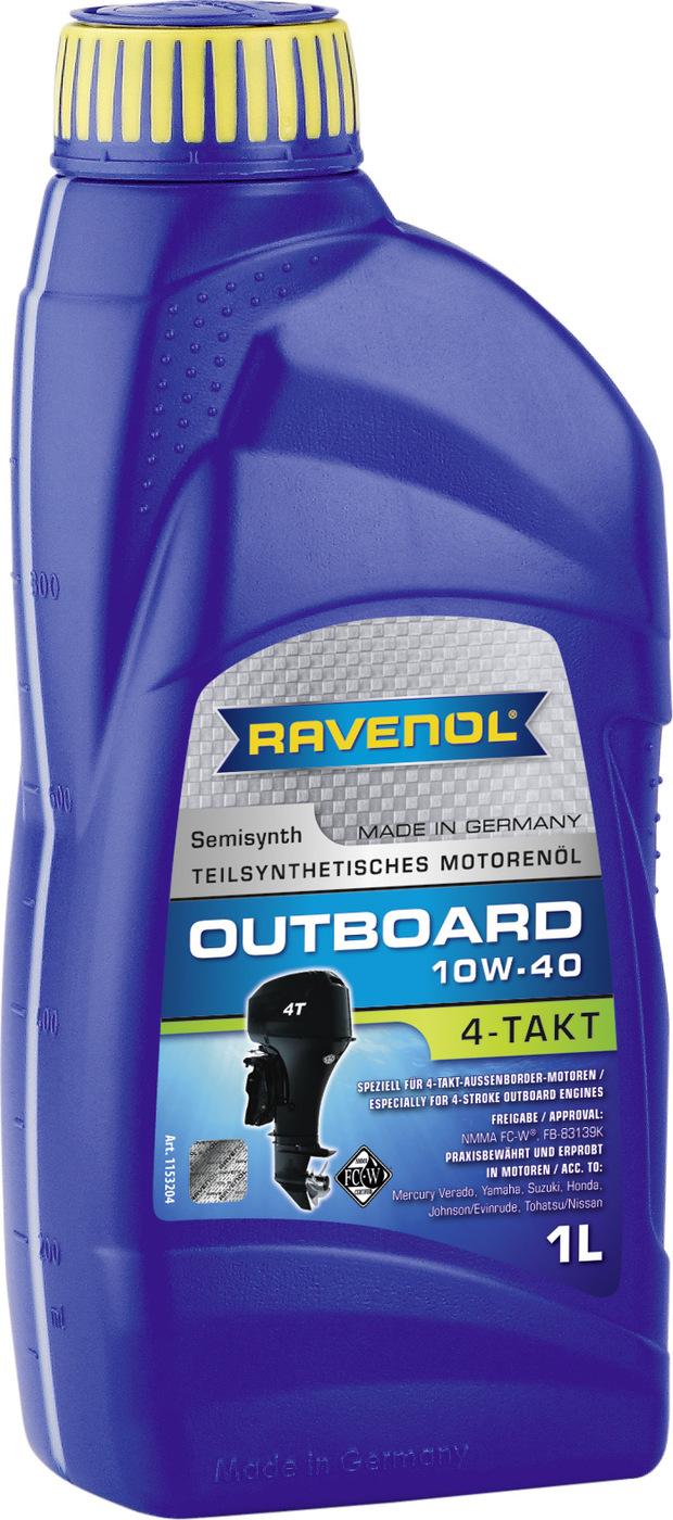 Моторное масло для 4-T лод.моторов RAVENOL Outboardoel 4T SAE 10W-40 (1 л)