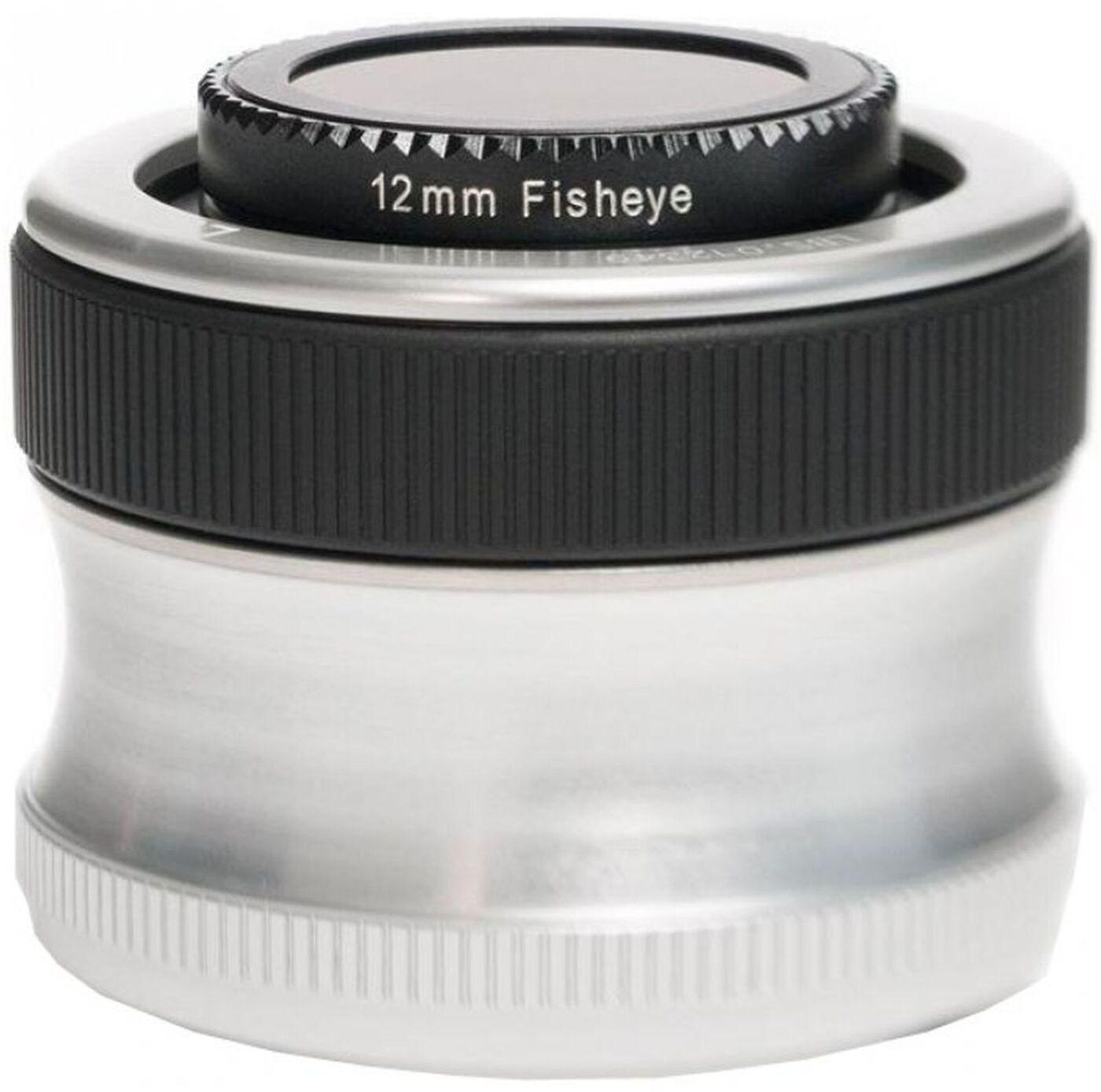 Объектив Lensbaby Scout With Fisheye 12mm f/4.0 для Pentax K, черный, серебристый