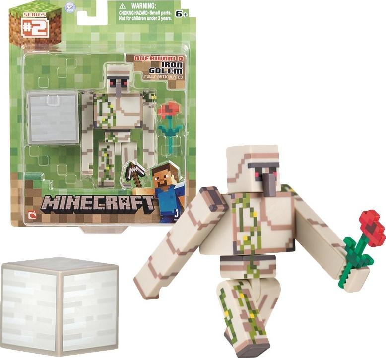 Набор фигурок Minecraft small: Iron Golem (с аксессуарами)