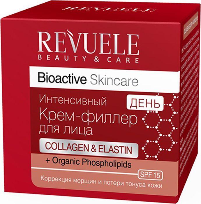 Крем-филлер для лица дневной Revuele Bioactive Skincare Collagen&Elastin+ Organic Phospholipids, 50мл Revuele