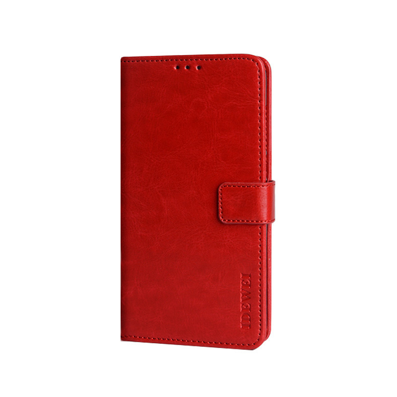 Чехол-книжка MyPads для Nokia 7.2/ Nokia 6.2 с мульти-подставкой застежкой и визитницей красный