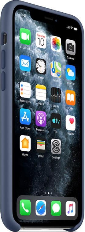 Силиконовый чехол для iPhone 11 (синий)-153490