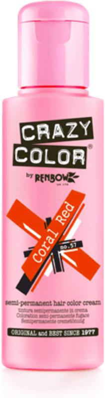 Краска для волос №57  Crazy Color Coral Red