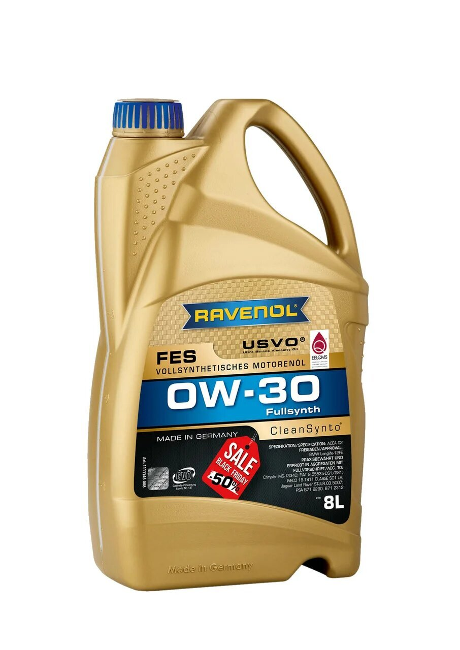 Моторное масло RAVENOL FES SAE 0W-30 (8л) new