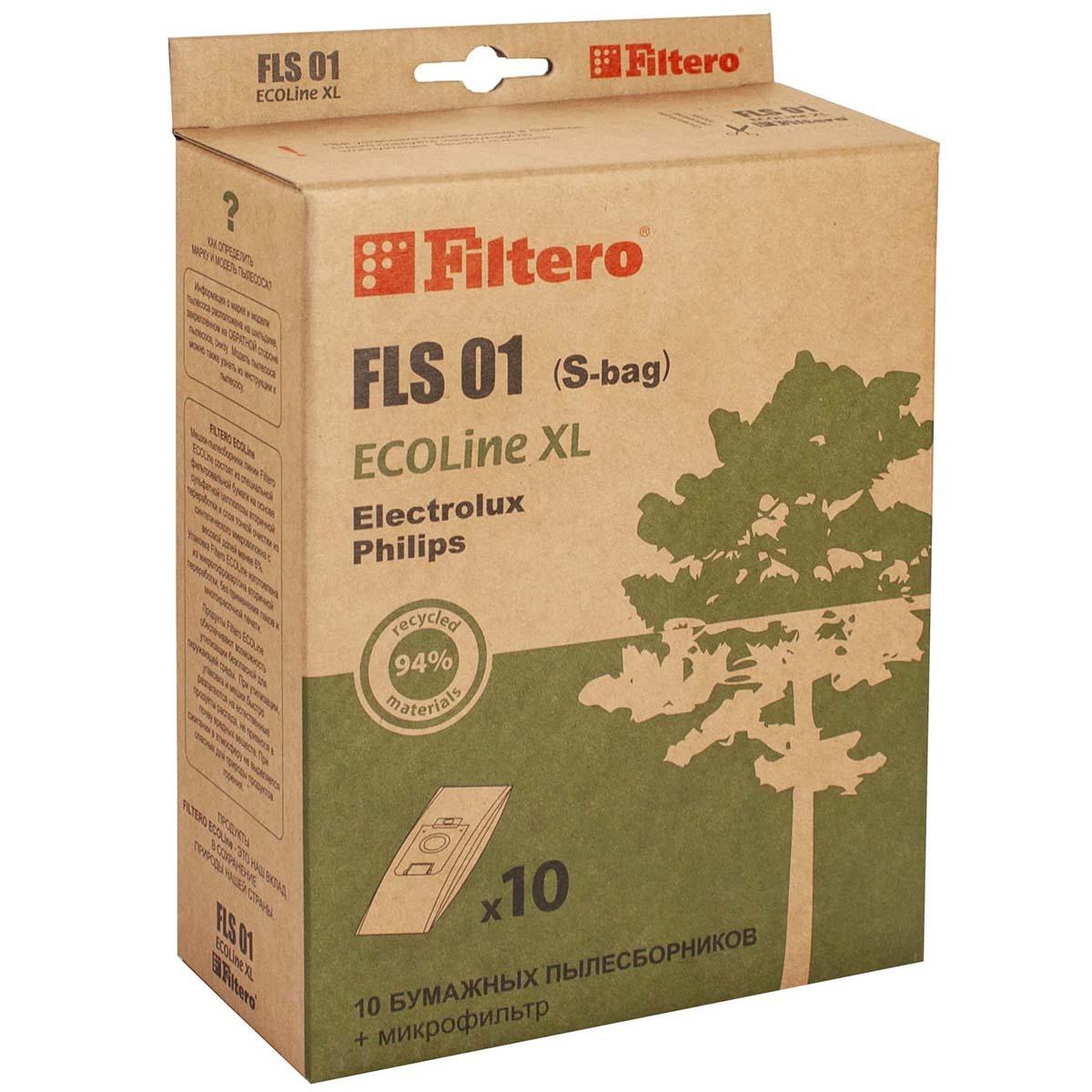 Мешок-пылесборник Filtero ECOLine XL FLS 01, 10 шт