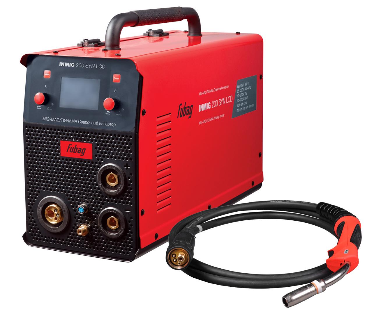 Сварочный аппарат Fubag INMIG 200 SYN LCD с горелкой