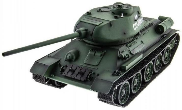"""Heng Long """"T-34 / Т-34М Li-Ion с дымом 1:16 HL-3909-1 PRO"""" - радиоуправляемый танк"""