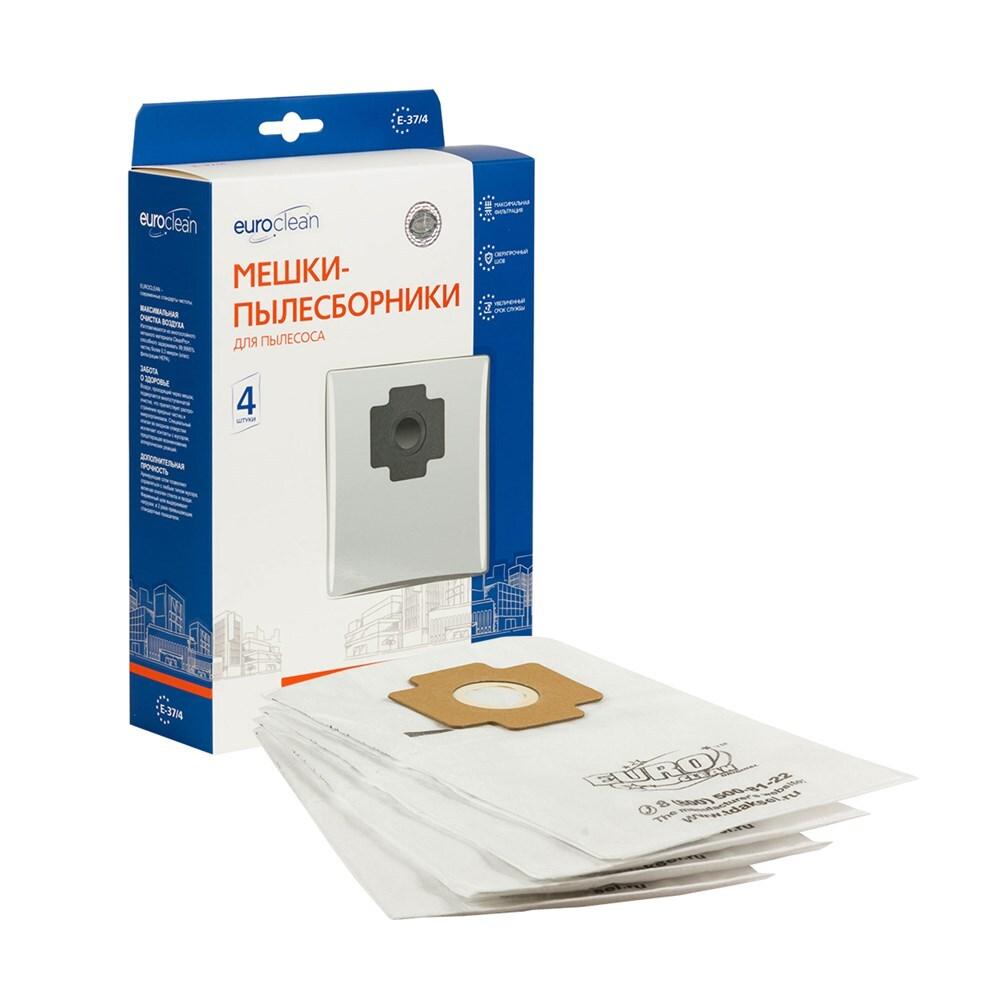 Мешки-пылесборники Euroclean синтетические 4 шт для пылесоса ZELMER 1136.5 ADMIRAL