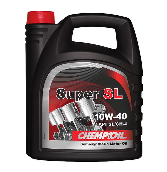 CHEMPIOIL Super SL 10W-40 (A3 B3) 4 л. полусинтетическое моторное масло 10W40 4 л.