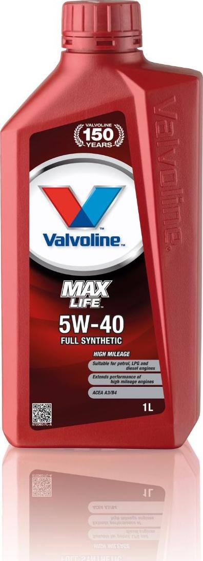 Масло моторное Valvoline MaxLife 5W-40 1л