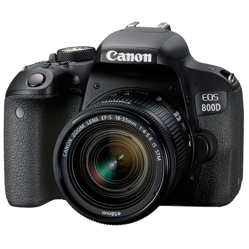 Зеркальная фотокамера Canon EOS 800D EF-S 18-55mm f/4-5.6 IS STM, черный