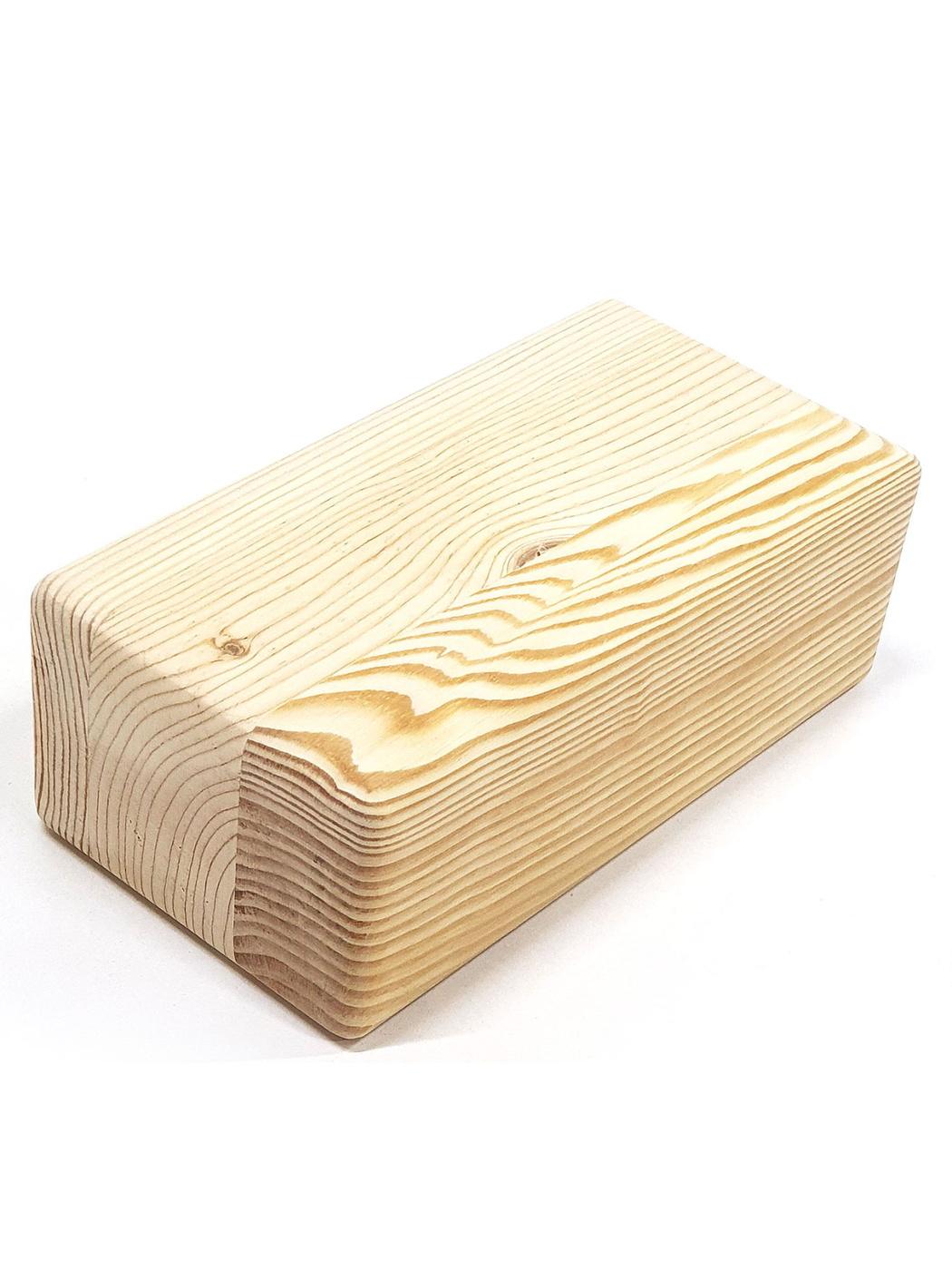 Блок для йоги Cheber из натурального дерева шлифованный