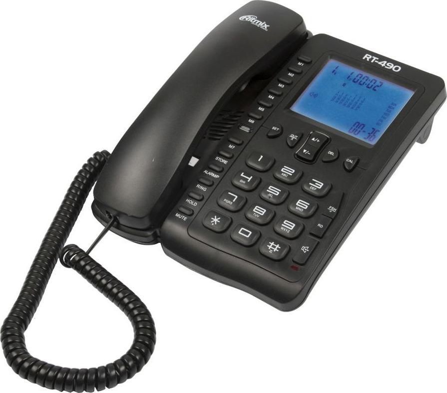 телефон ritmix rt-490, 15118550, black уцененный товар (№1)