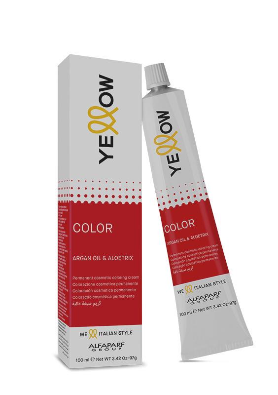 Yellow Краска для волос тон 5.53 (коричнево-золотой, светлый махогон) YE COLOR 100 мл.