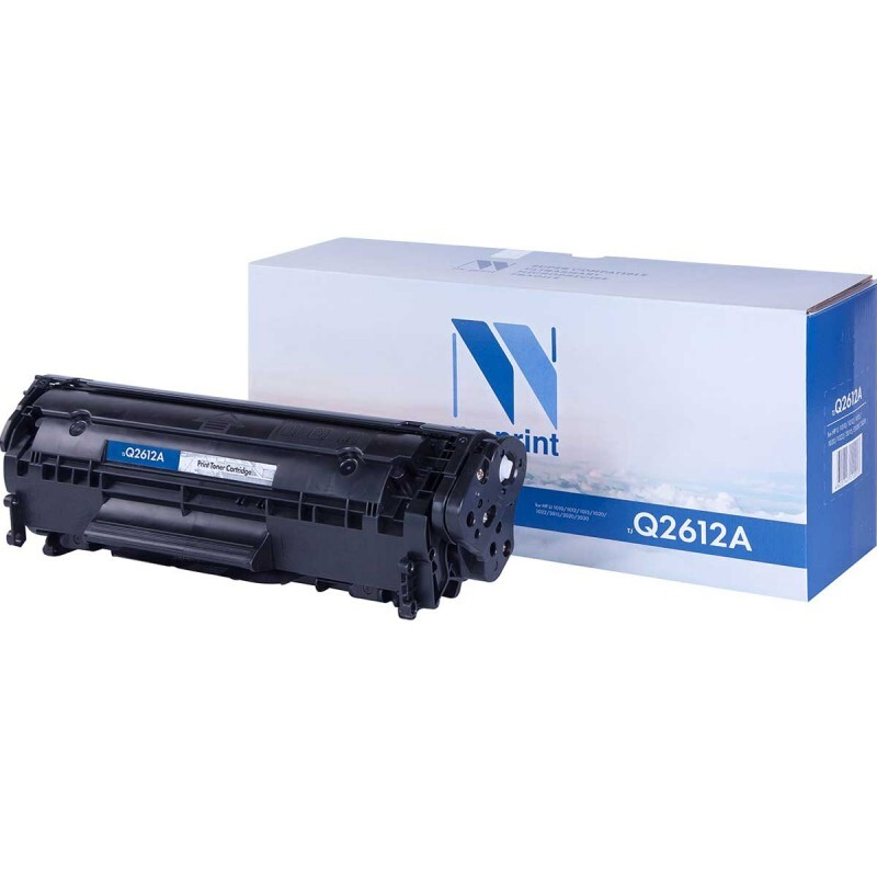 Картридж NV Print Q2612A/NV-FX-10/703, черный, для лазерного принтера, совместимый