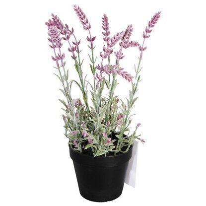 Растение искусственное Лаванда розовая в кашпо D17 L37-19953
