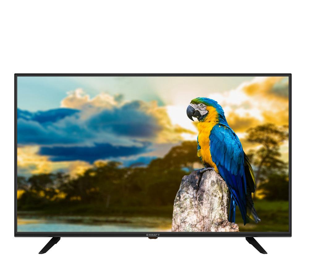 """4k uhd телевизор kraft ktv-l43uhd02t2ciwl 43"""", черный"""