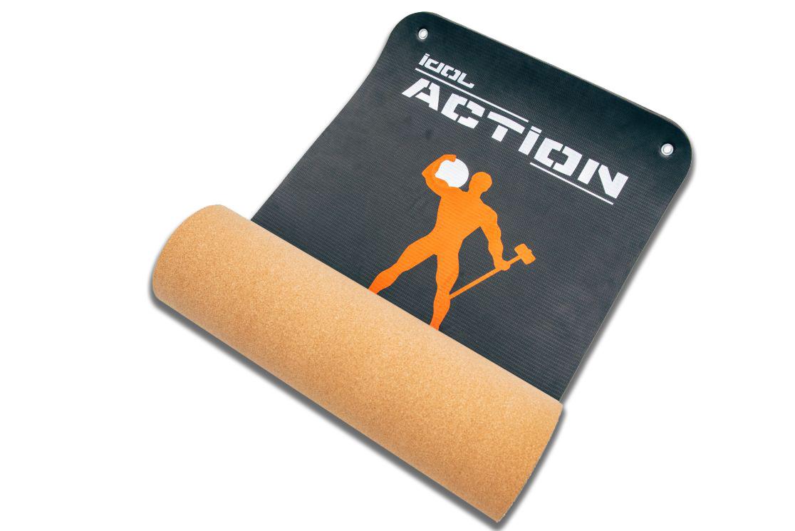 Коврик для фитнеса, йоги и растяжки полиуретановый IDOL Action