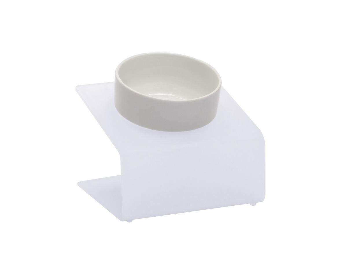"""Миска для собак и кошек на подставке с наклоном Artmiska """"Стиль"""" XS, белая, 360 мл.  #1"""