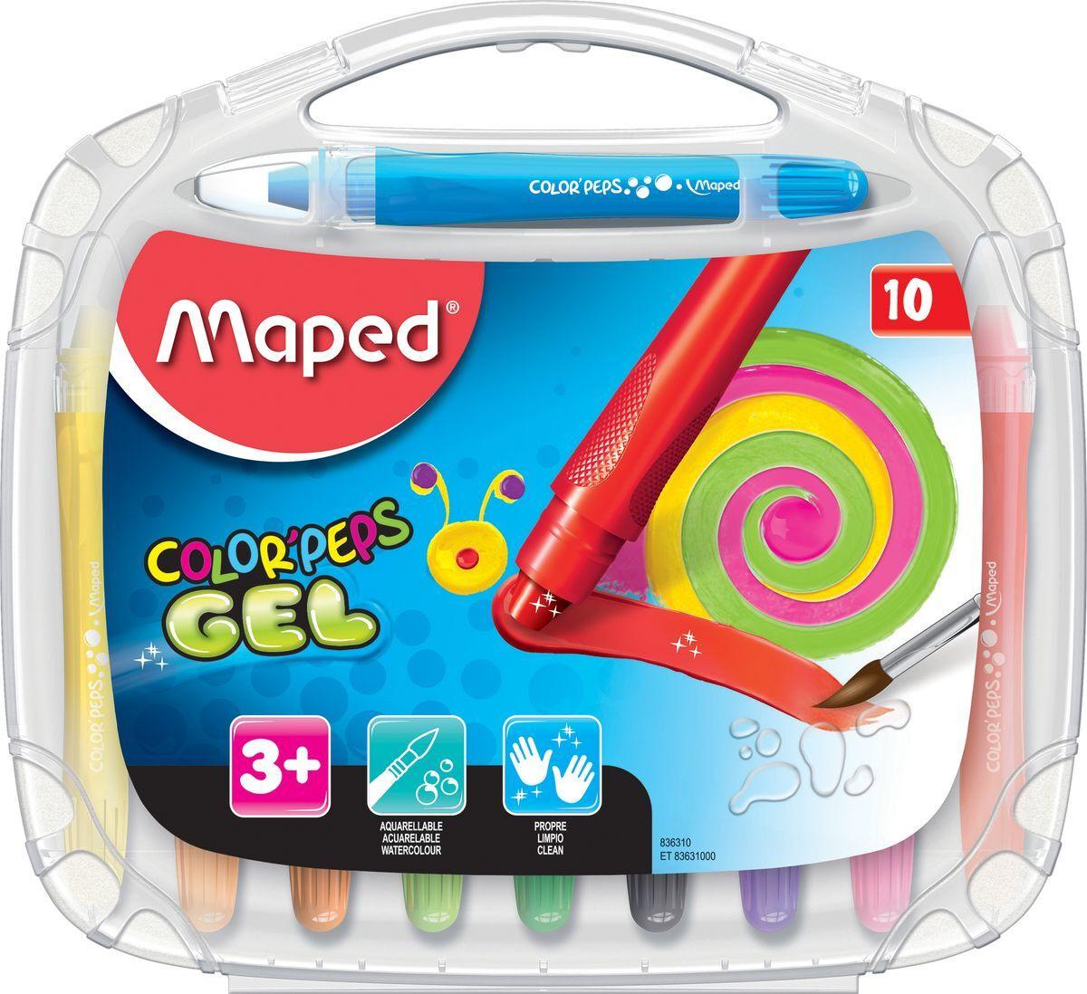 Мелки для рисования Maped Color Peps, гелевые, 10 цветов #1