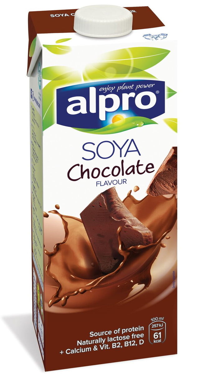 Alpro Соевый напиток со вкусом Шоколада обогащенный кальцием и витаминами, 1 л  #1
