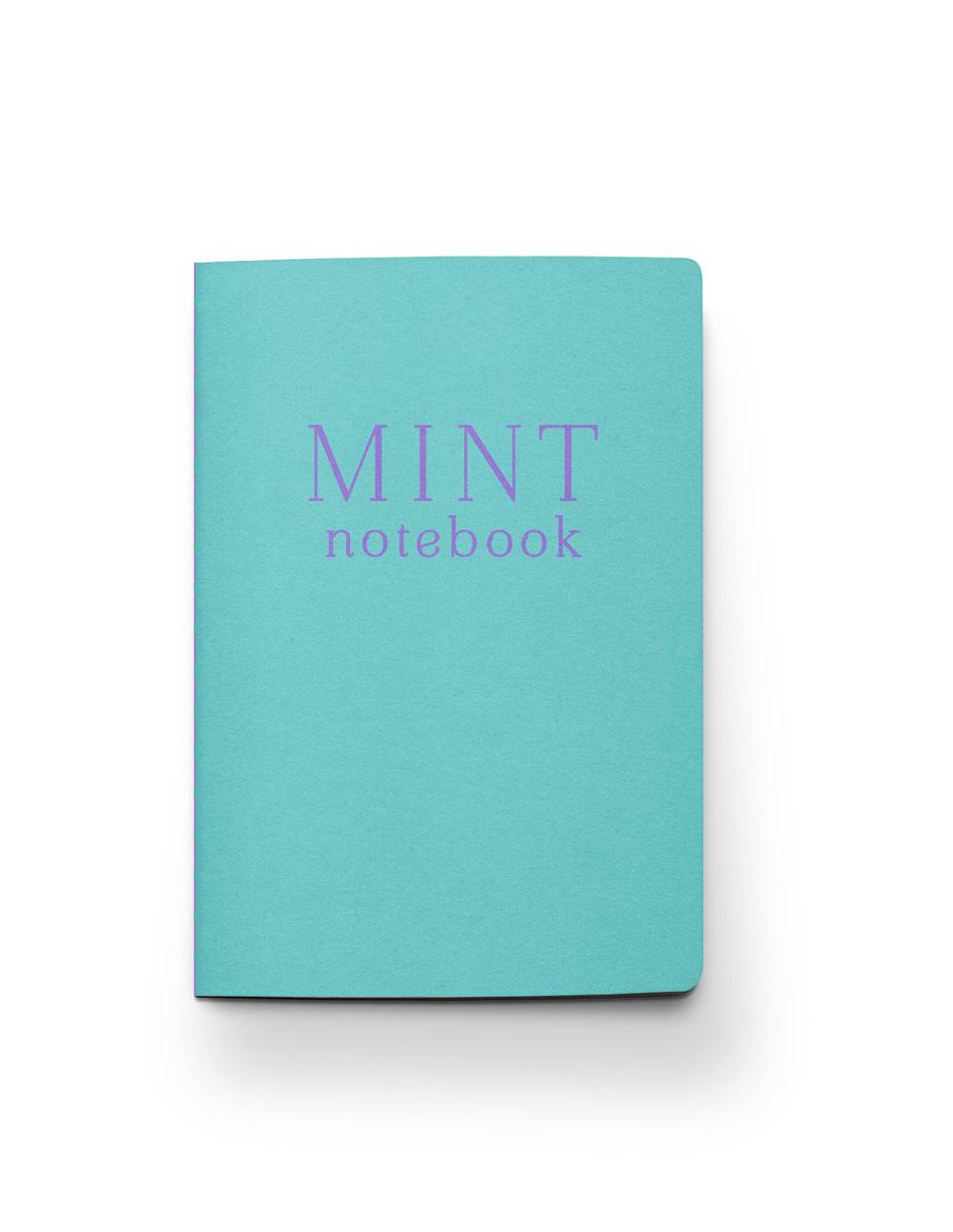 (2020)Mint notebook. Блокнот (А5, 32 л., прошитый цветными нитками, тиснение фольгой) | Нет автора  #1
