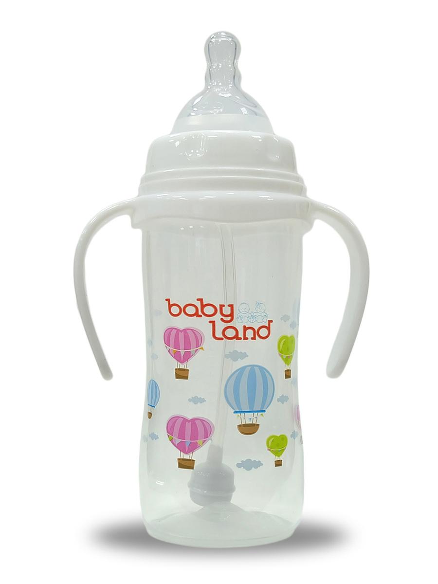 """Бутылочка """"BABY LAND"""" с ручками антиколиковая система от 6 мес, 300ml  #1"""