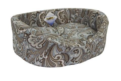 Мягкий лежак Лежак для собак с бортиком № 5, огурцы, 71 х 53 х 20 см  #1