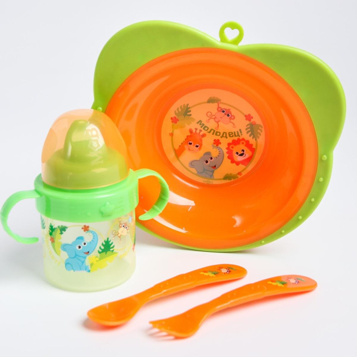"""Набор посуды """"Зоопарк"""", 4 предмета #1"""