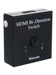 """Разветвитель HDMI на 2 сплиттер Splitter Telecom + HDMI переключатель """"2 в 1"""" 4K@30Hz двунаправленный (TTS5015). HDMI разветвители"""