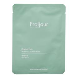 Fraijour Набор увлажняющих масок для лица Original Herb Wormwood Sheet Mask, 23 мл, 5 шт. EVAS