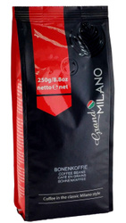 Grand Milano Bonenkoffie Espresso. Кофе в зернах 250 грамм. Арабика Перу, Гватемала. Робуста Уганда.. Grand MILANO