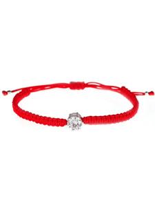 Milanti Браслет Красная нить Фианит, на запястье, шнурок на красной нитке, серебряный, подарок на новый год. Вместе дешевле!