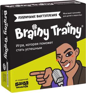 Развивающие головоломки BRAINY TRAINY Публичные выступления УМ676 / Настольная игра, обучающие карточки, викторина / Развитие речи, мышления, интеллекта для детей и взрослых, подростков / Полезный подарок / Развиваем Soft Skills / Ораторское искусство. Вместе дешевле!