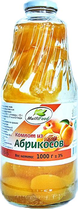 Компот MultiFood, из абрикосов, 1 л кубань продукт компот вишневый 1 л