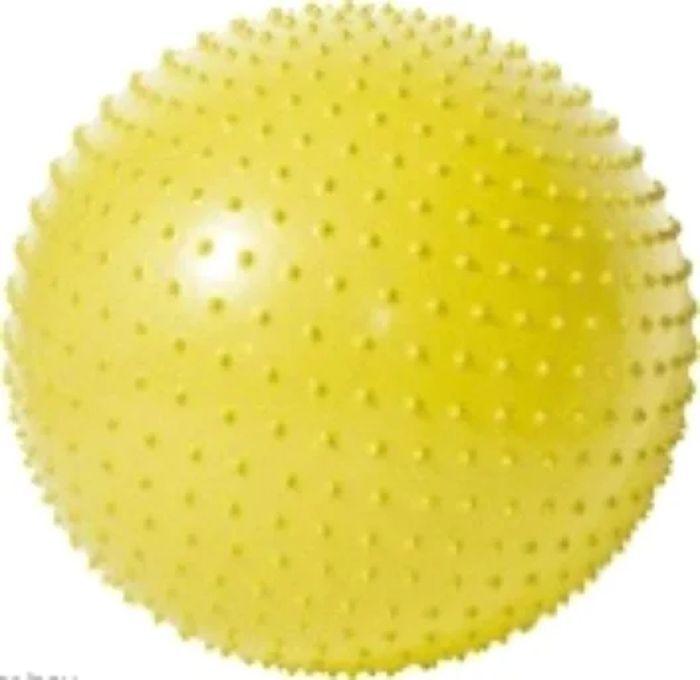Мяч гимнастический Iron People IR97404, массажный, желтый, 65 см