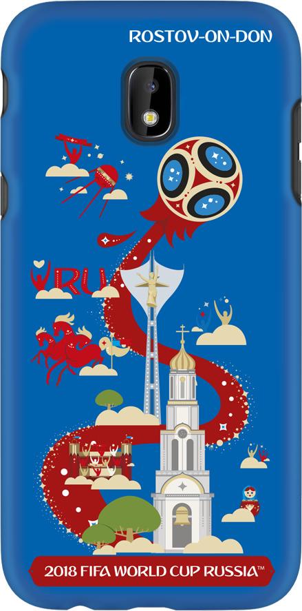 Чехол TPU для Samsung Galaxy J3(2017), FIFA Rostov-on-Don, Deppa чехол fifa 2018 rostov on don для iphone 6 6s