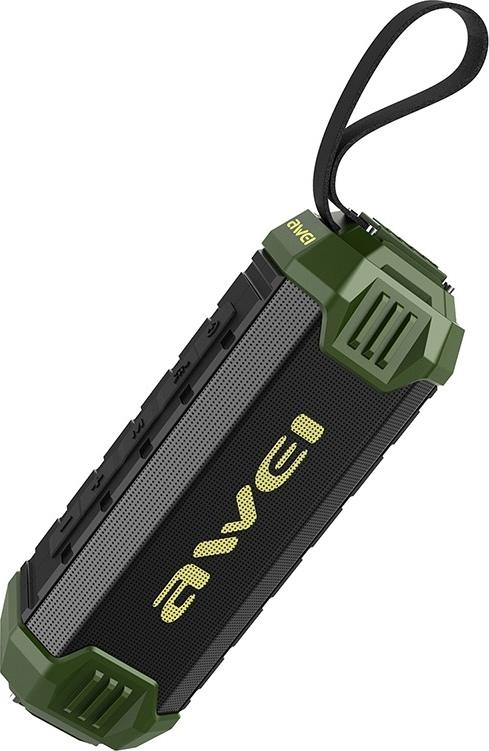 Колонка Bluetooth портативная Awei Y280 - Черная/Олива