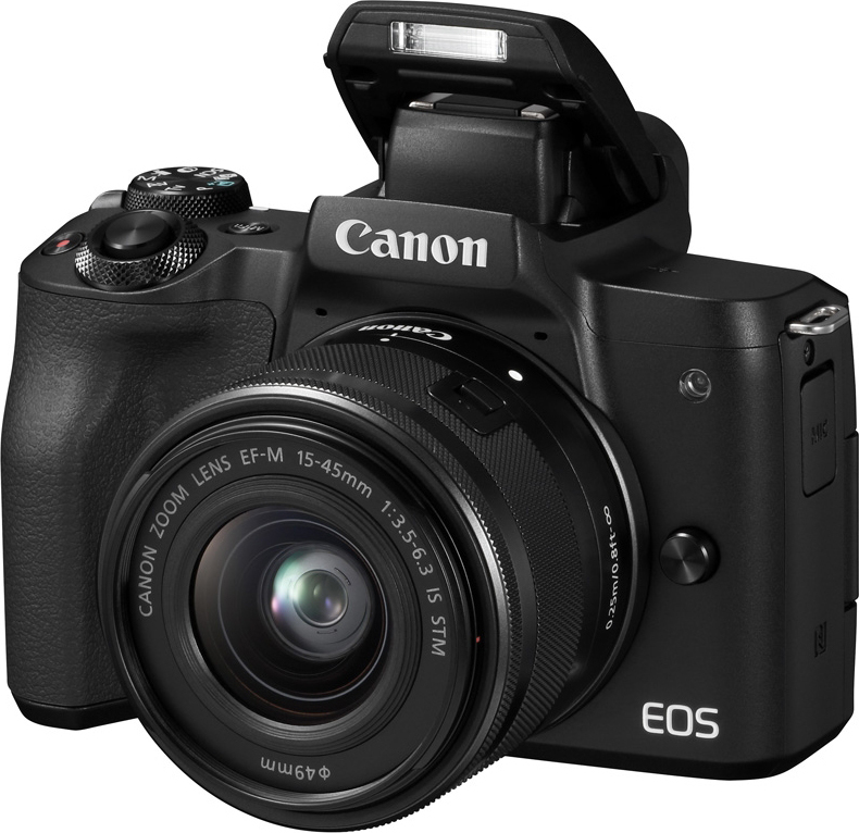 Зеркальная фотокамера Canon EOSM50Kit15-45ISSTM, черный