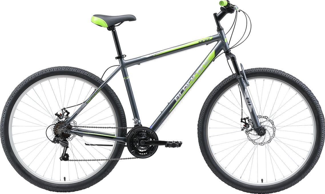 Велосипед BLACK ONE Onix 29 D Alloy 2019 22 серый/зелёный/чёрный