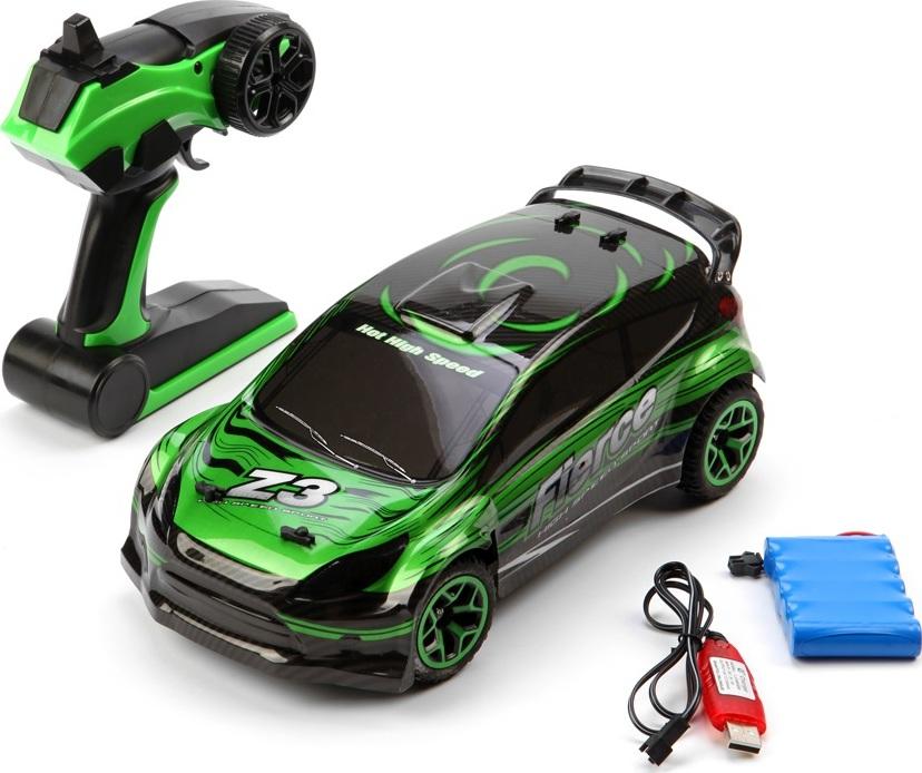 Машинка Раллийная машина, радиоуравляемая, 1:18, 4WD Зеленый