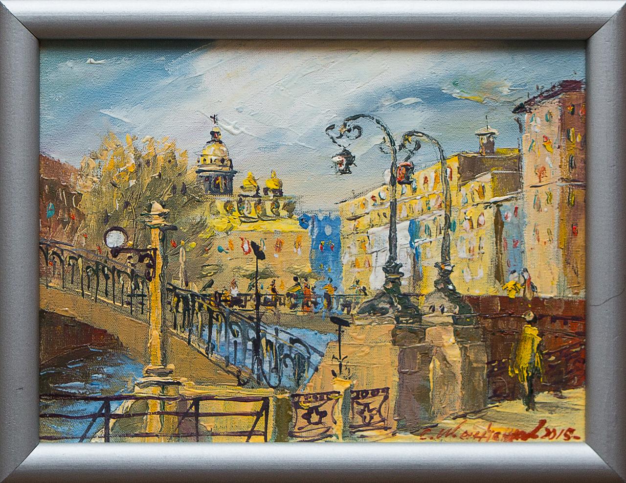 Картина маслом Мосты на Мойке Иванченков картина маслом казанский собор иванченков