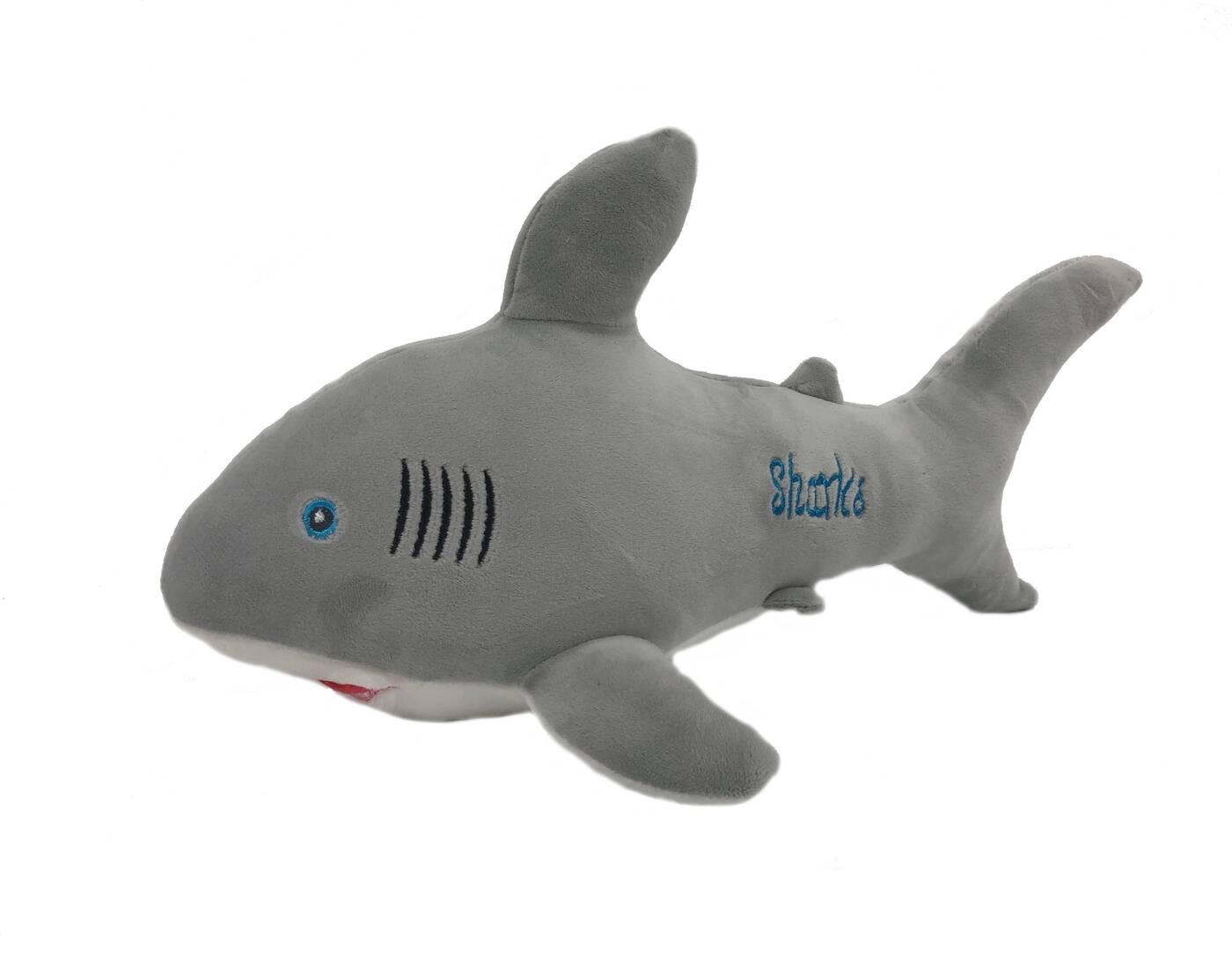 АБВГДЕЙКА Мягкая игрушка Акула Шарка, 38 см, серая