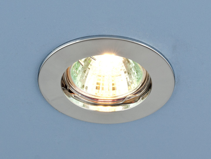 Встраиваемый светильник Elektrostandard Точечный 863 MR16 CH, G5.3 эра c0043804 st3 ch mr16 12v 220v 50w хром