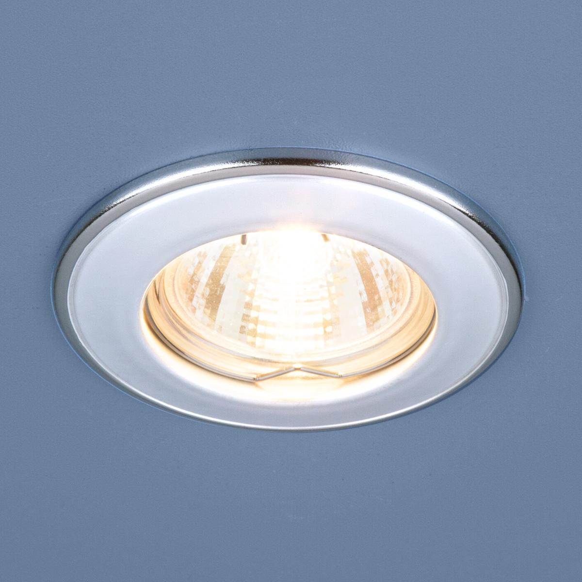 Встраиваемый светильник Elektrostandard Точечный 7002 MR16 WH/SL, G5.3 встраиваемый светильник elektrostandard 7002 mr16 wh gd белый золото 4690389082528