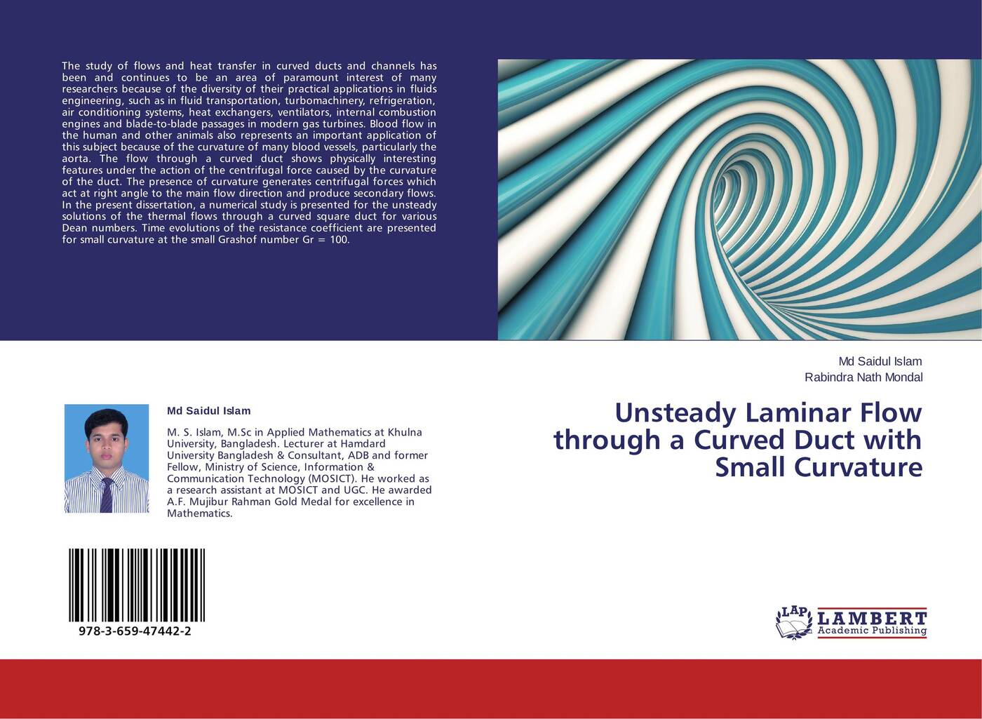islam eldesoky unsteady mhd pulsatile flow of blood through porous medium Md Saidul Islam and Rabindra Nath Mondal Unsteady Laminar Flow through a Curved Duct with Small Curvature