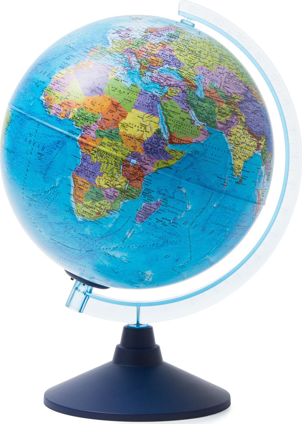 Глобус Земли Globen политический с подсветкой от батареек, диаметр 25 см.