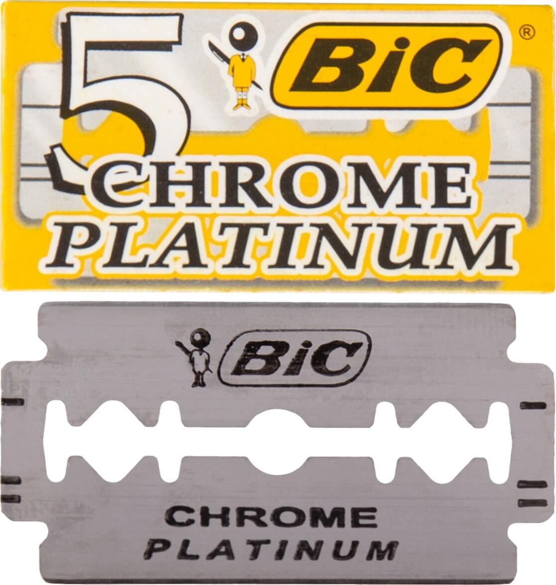 2 упаковки лезвий BIC CHROME PLATINUM для бритвенных станков